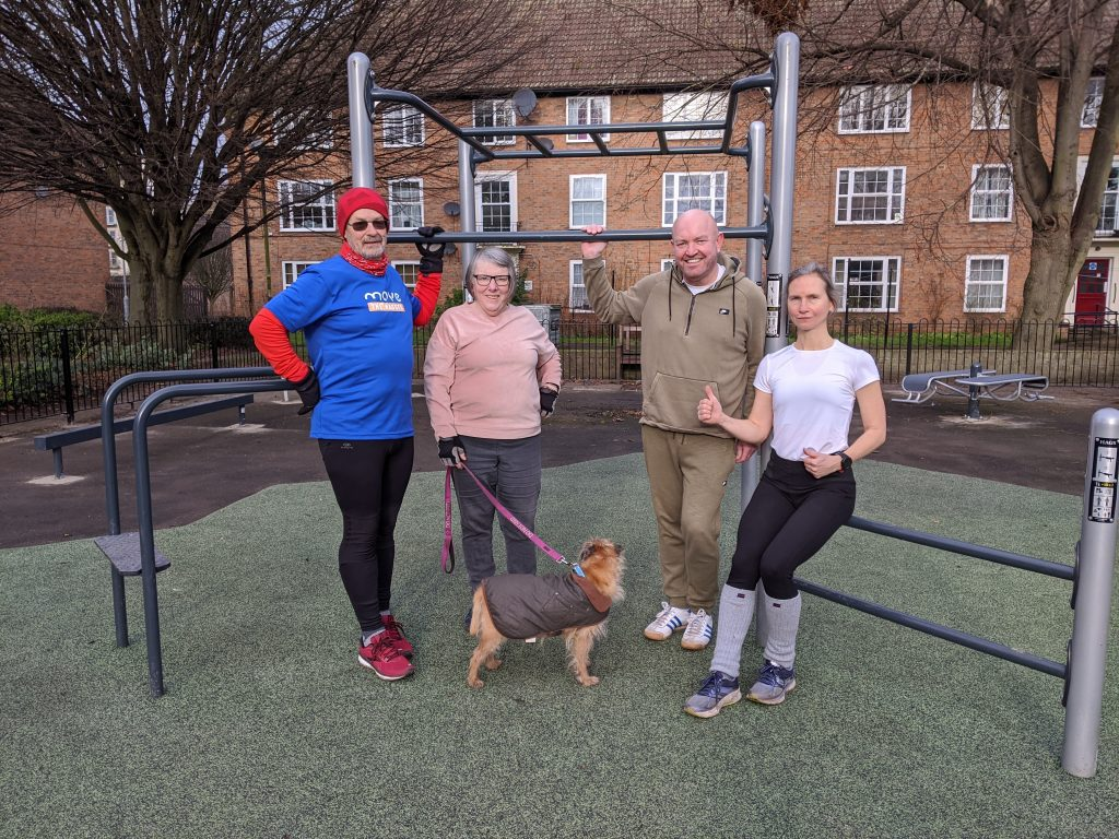 Group of people at Navigation Road Fitness Area