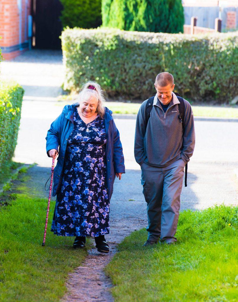Move Mates volunteer and benefactor walking in York