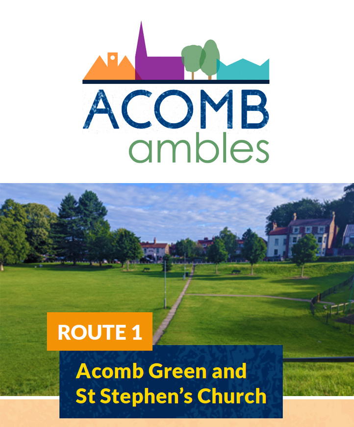 Walks in Acomb, York - Acomb Green and St Stephens Church