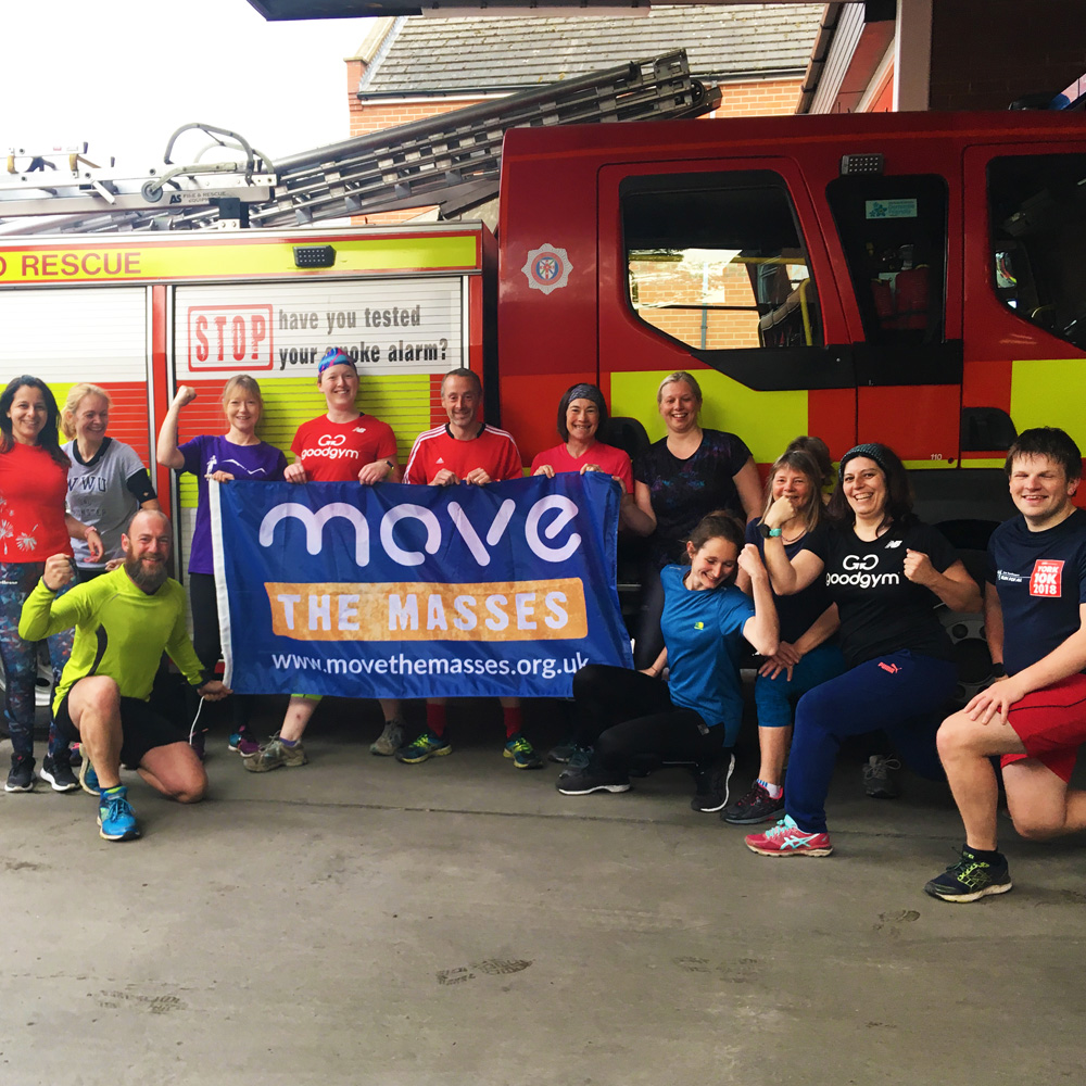 Fundraising for Move the Masses group image at Fire Station