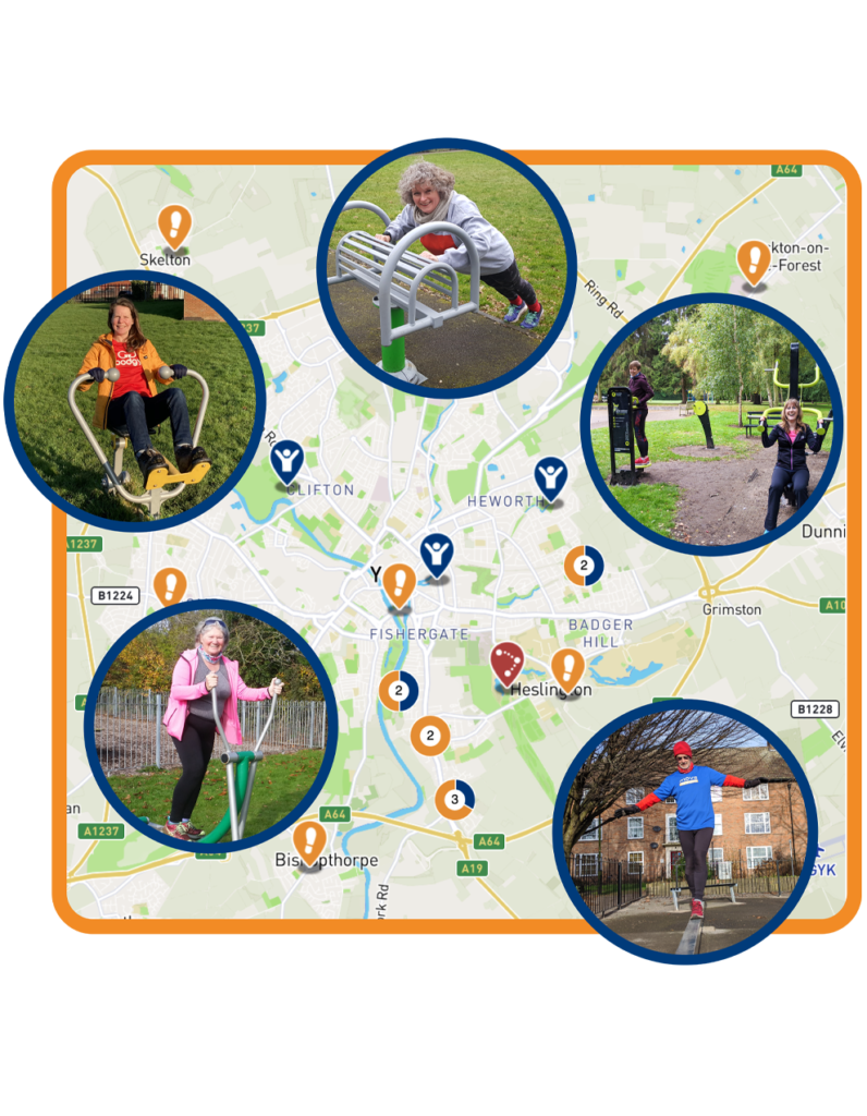 Move Map graphic, map of outdoor gyms in York