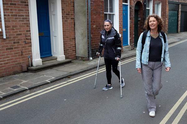 Charlene and Bec on a Move Mate walk