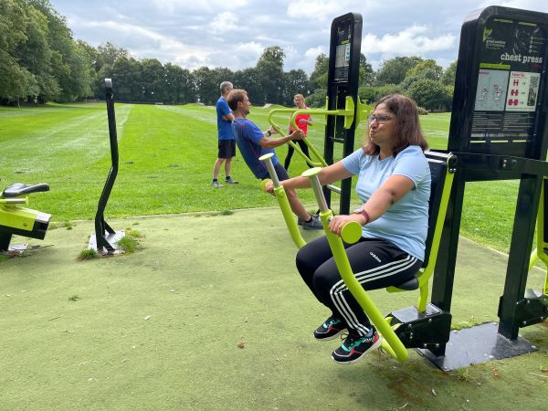 Image of people exercising at the outdoor gym